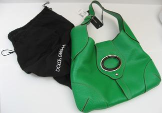 Dolce & Gabbana tropical green handbag