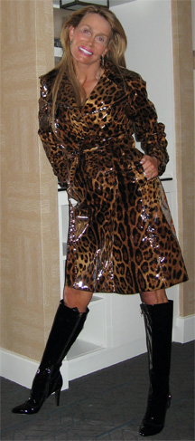 Dolce & Gabbana leopard trench coat