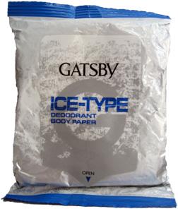 Gatsby Ice-type Deodorant Body Paper