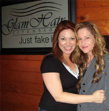Gina Diaz and Kristin at Glam Hair, Aventura