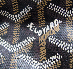 Goyard is waterproofed with acacia sap