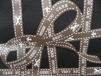 closeup of Hallmark tote