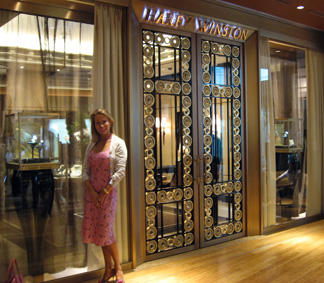 Outside the Harry Winston boutique Tokyo Midtown