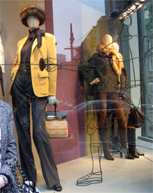 See the brown vibrato in Hermes' Madison Ave current window display?