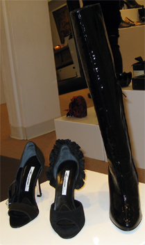 This pic does not do justice to these gorgeous Brian Atwood shoes at Hu's
