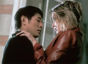Jet Li and Bridget Fonda in Kiss of the Dragon