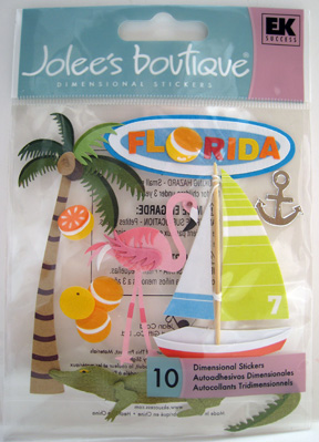 Jolee's Boutique dimensional paper stickers Florida
