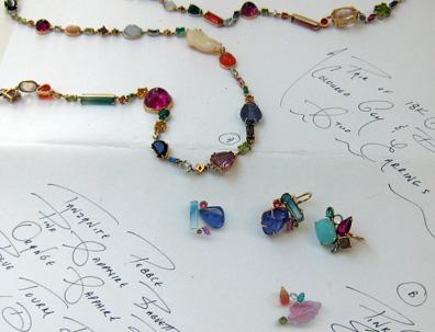 Sharron Khazzam Baby Earrings and Baby Necklace