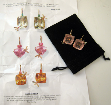 Bee Earrings by Sharon Khazzam with Barneys ad