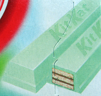 Kiwifruit Kit Kat mint green covered bars