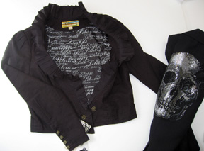 Libertine for Target ruffled jacket and Libertine skull jacket from Jeffrey