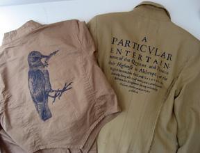 Libertine for Target cotton jacket with silkscreened bird with Libertine jacket from Jeffrey