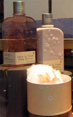 L'Occitane Fleurs de Cerisier perfume and talc