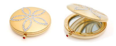 Loreal Red Carpet Compacts with diamonds by Kwiat