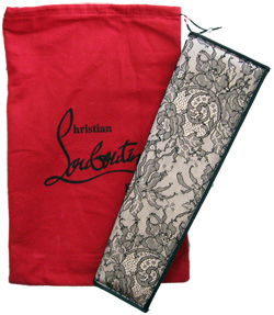 purchased in Dubai - Louboutins lace overlay clutch