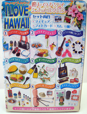 I love Hawaii - back of the box