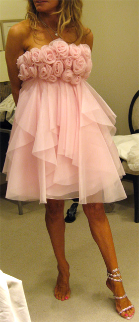 rose pink confection by Marchesa