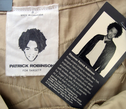 Patrick Robinson for Target label