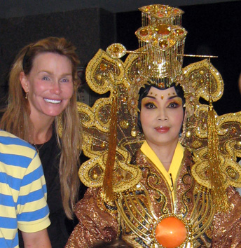 Cherry Hola at the Peking Opera