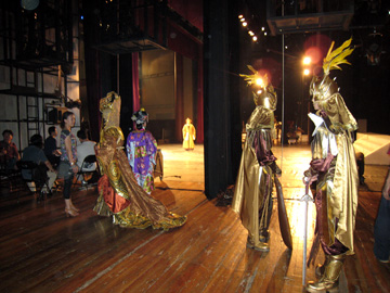 From the wings at the Peking Opera