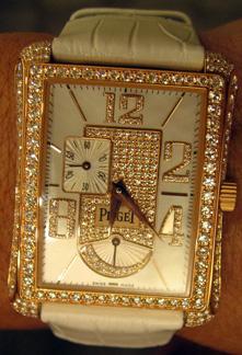 Piaget watch - white strap