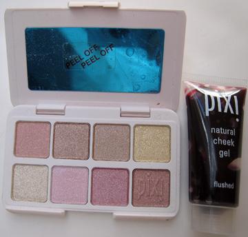Pixi Cheek Gel and eyeshadow palette