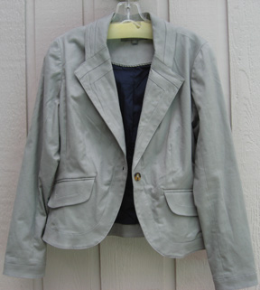 very wearable Proenza Schouler for Target grey jacket with piping