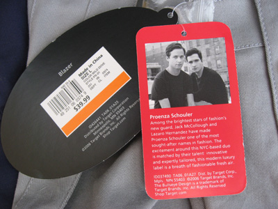 Proenza Schouler for Target tags