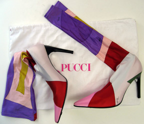 Emilio Pucci pull on boots