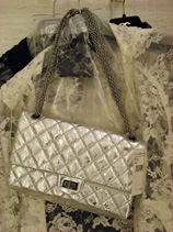 Chanel 06a Classic bag in argent clair