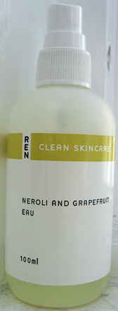 Ren's delightlful Neroli and Grapefruit eau