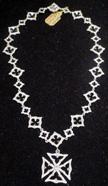 Loree Rodkin Maltese Cross necklace