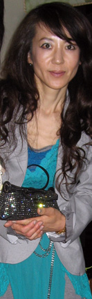 Sachiko in Libertine with Jimmy Choo bag at Tokyo Midtown