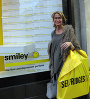 Smiley featured at Selfridges August 06