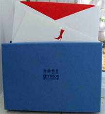 Smythson notecards - Red Boot