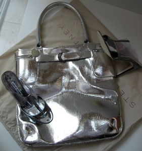 Stella McCartney silve lame tote for SS 2007