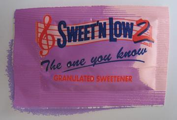Sweet N Low wears Pantone Color of 2008 Blue Iris