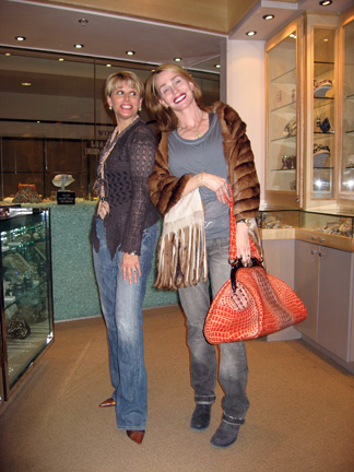 with Martine and a Nina Rosen bag at Tabandeh