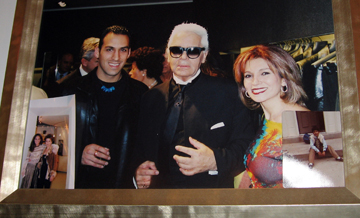 Designer Sahba with Karl Lagerfeld and Tabandeh