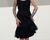 Tattoos with black dress