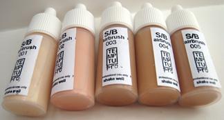 Temptu airbrush S/B tan tubes