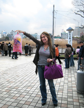 Cotton Candy at the Ueno Sakura Festival
