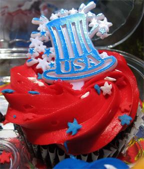 Independence Day Cupcake