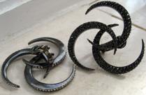 VBH black diamond earrings