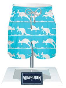 Vilebrequin kangaroo print trunks in turquoise