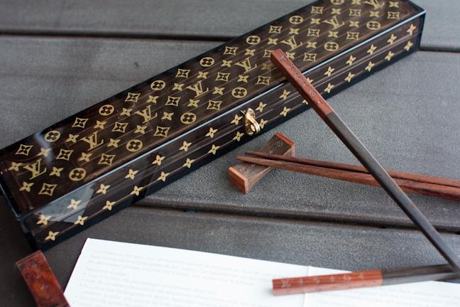 Louis Vuitton logo chopsticks