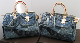 Monogram denim patchwork Speedys Vuitton 2007