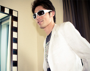 White sunglasses at the Mandarin