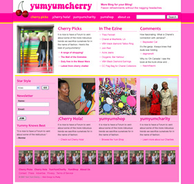 mock up of future yumyumcherry.com courtesy of fortymedia